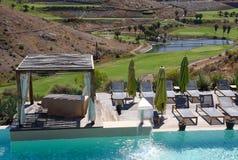 Canapés de piscine Images libres de droits