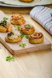 Canap�s puff pastry Stock Image