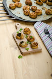 Canap�s puff pastry Royalty Free Stock Photos
