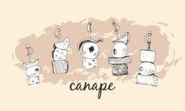 Canape Royaltyfri Bild
