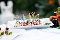Canape, alimento luxuoso para o evento Foto de Stock Royalty Free