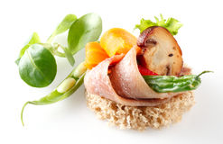 Canape with anchovy Royalty Free Stock Images