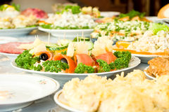 Canape, Banquet in the restaurant Royalty Free Stock Photography