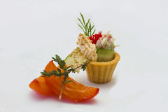Canape for banquet Stock Photography