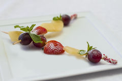 Canape for banquet. Canape for a banquet with sause Royalty Free Stock Photos