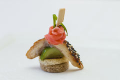 Canape for a banquet. With sause Stock Photography