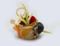 Canape for a banquet Stock Photos