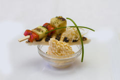 Canape for a banquet. With sause Stock Images
