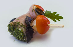 Canape for a banquet. With sause Royalty Free Stock Images