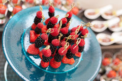 Canape of berries Stock Photo