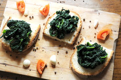 Canape with black cabbage pepper Royalty Free Stock Photography