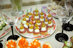 Canape at Home Royalty Free Stock Images