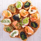 Canape, buffet food Stock Photography