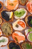 Canape, buffet food Royalty Free Stock Photo
