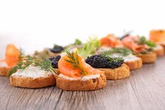 Canape, buffet food Royalty Free Stock Photography