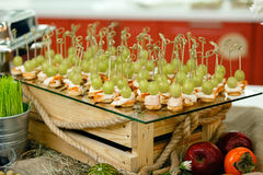 Canape, Canape on table event Royalty Free Stock Images
