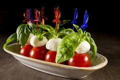 Canape Caprese for buffet Stock Photo