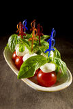 Canape Caprese for buffet Royalty Free Stock Photos