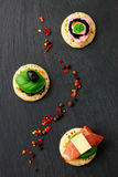 Canape casalinghe del pancake Fotografia Stock