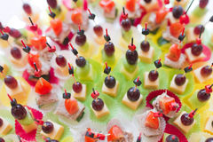 Canape with cheese Stock Image