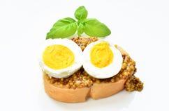 Canape com ovo imagens de stock royalty free