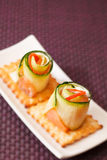 Canape with cucumber Stock Photo