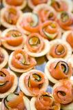 Canape de color salmón Foto de archivo libre de regalías