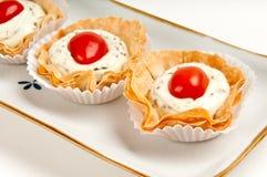 Canape de tomate et de fromage Photographie stock libre de droits