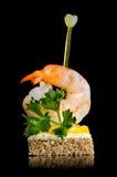 Canape del camarón imagen de archivo libre de regalías