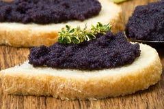 Canape del caviar Foto de archivo