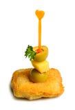 Canape del formaggio Fotografia Stock