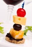 Canape del queso imagen de archivo