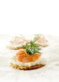 Canape do camarão Fotografia de Stock Royalty Free