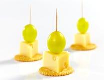 Canape do queijo Imagens de Stock Royalty Free