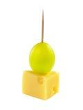 Canape do queijo Fotografia de Stock Royalty Free