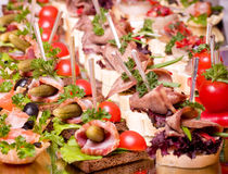 canape for an event party Stock Photography