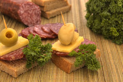 Canape example 1 Stock Photography