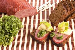Canape example Stock Photography