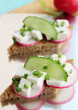Canape with feta Stock Images