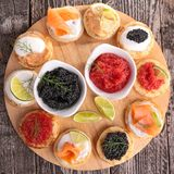 Canape, finger food Royalty Free Stock Image