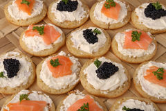Canape food Stock Photos
