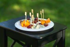 Canape gemacht vom Käse Lizenzfreies Stockfoto