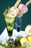 Canape on glass shot Royalty Free Stock Photos