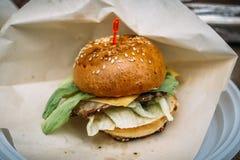 Canape i form av en liten hamburgare, Royaltyfri Foto