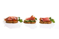 Canape with Jamon Stock Image