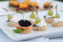 Canape, luxury food for event Stock Photo