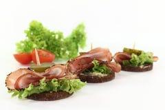 Canape mit bacon Stock Photos