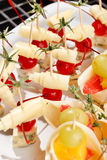 Canape on the plate Royalty Free Stock Photos