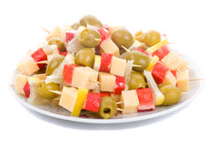 Canape on plate Stock Photo