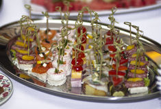 Canape on a plate Stock Images